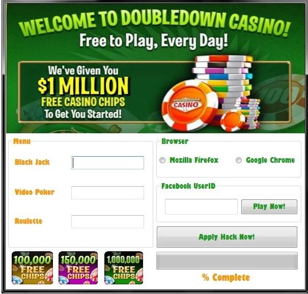 Doubledown casino online hack tool