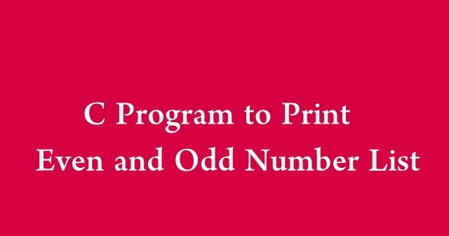 How to write a even or odd program in java