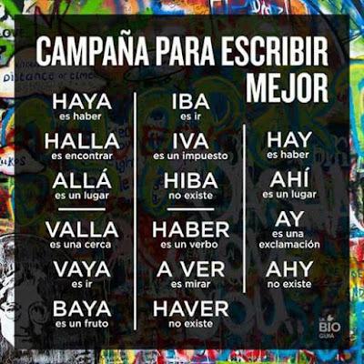 Cursos 15 Cómo Se Escribe Haya Halla Allá Valla Vaya Baya Iba Iva Hiba Haber A Ver Haver Hay Ahí Ay Ahy