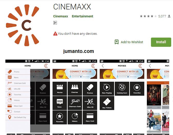 Cinemaxx, aplikasi resmi dari Bioskop Cinemaxx