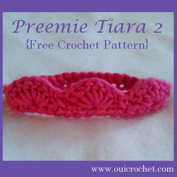 Crochet, Crochet for Charity, Crochet for NICU Babies, Crochet for Preemies, Crochet Preemie Tiara, Crochet Preemie Tiara Headband, Crochet Tiara, Free Crochet Pattern, Preemie Tiara,