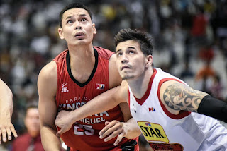 Japeth Aguilar against Marc Pingris