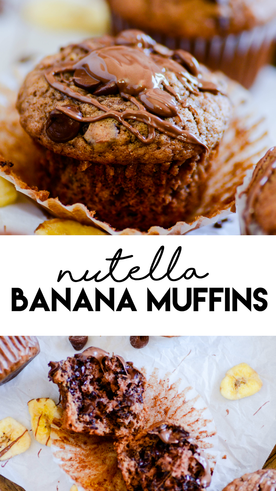 A recipe for the most decadent banana bread you've ever eaten. Nutella and bananas were meant to be!