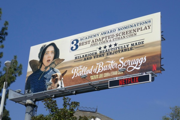 Ballad of Buster Scruggs Oscar nominee billboard