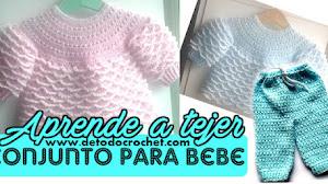 Conjunto de Bebé a Crochet /Tutorial de pantalón y chaqueta