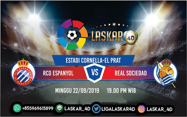 Prediksi Pertandingan Bola Espanyol VS Real Sociedad 22 September 2019