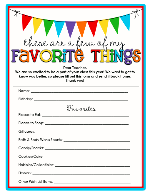 image relating to Teacher Favorite Things Printable identified as Everyday living Lovable Lifestyle: Instructors Favourite Components No cost Printable