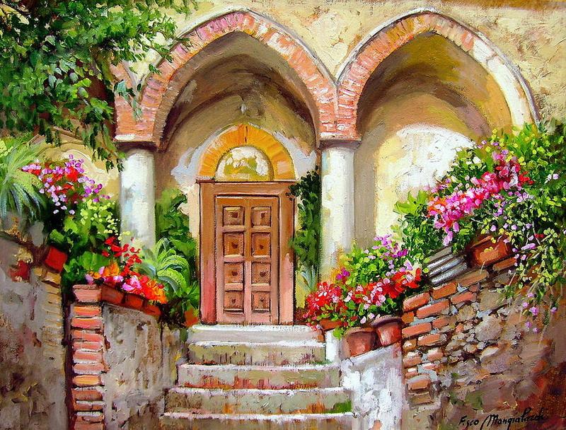 Cuadros modernos pinturas y dibujos escaleras entradas - Pintura para escaleras ...