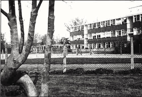 Photograph of Main teaching block completed 1964 (photo 1980) image from Mike Gregory