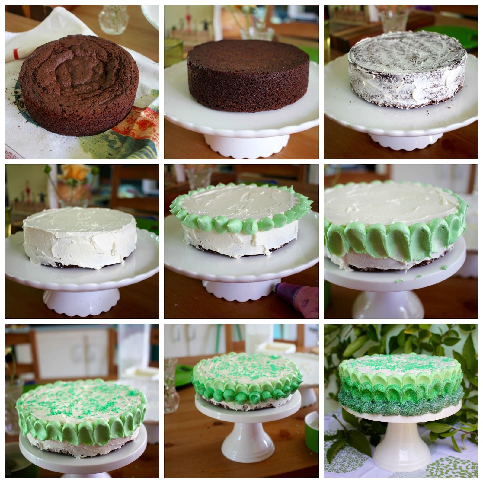 Green Gourmet Giraffe: Green ombre chocolate cake ...