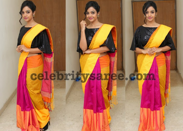 Nithya Shetty Silk Saree