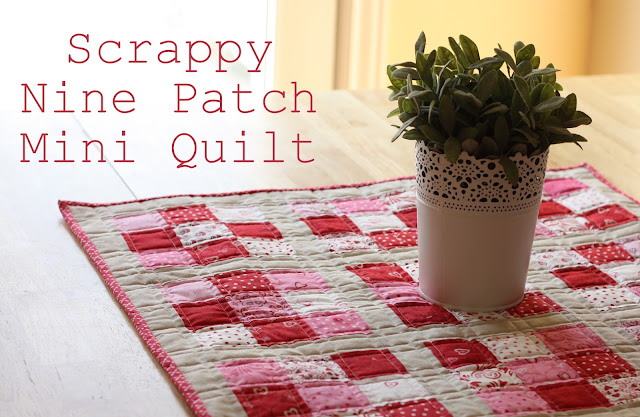 Nine Patch Mini Quilt Tutorial