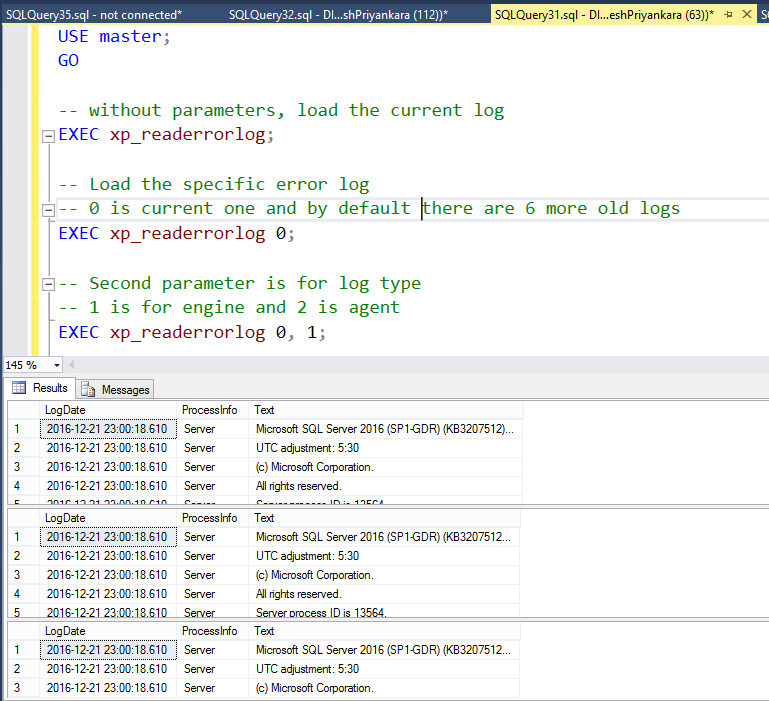 Error Log: Dinesh's Blog :::: Being Compiled ::::: Reading SQL Server