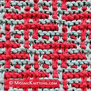 hashtag mosaic knit stitch