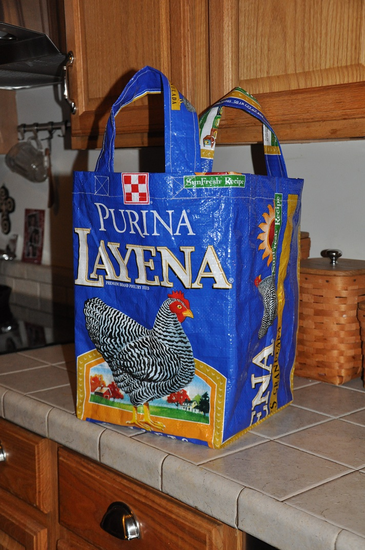 Two At The Farm Diy Chicken Feed Sack Tote