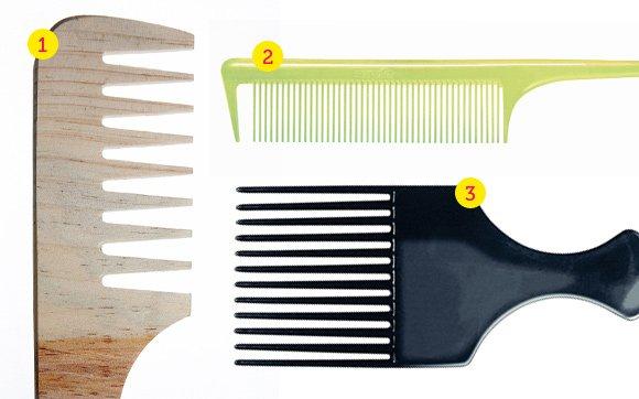 Tipo de escova e pente para cada tipo de cabelo