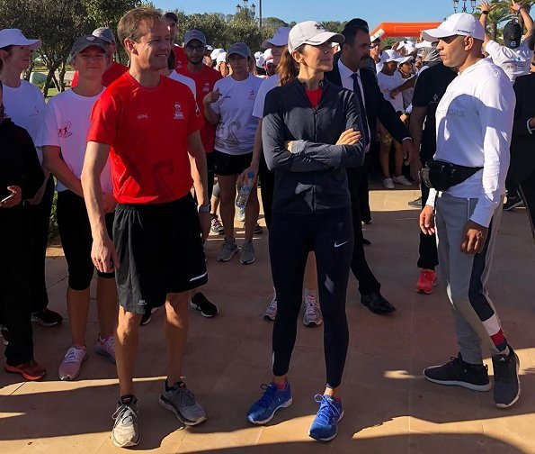 Crown Princess Mary participated in an exercise run on the site of the seminar. Princess Lalla Salma of Morocco