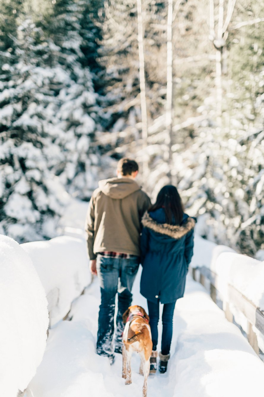 Romantic Winter Surprise Proposal by Something Minted Photography