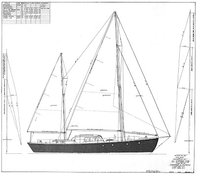 Sail Plan (Courtesy Sparkman & Stephens)