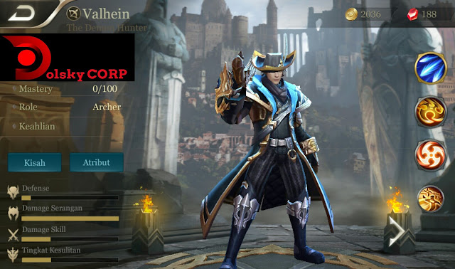 Hero Valhein ( The Demon Hunter ) High Damage Build Set up Gear