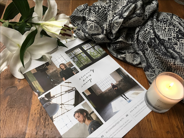 My Midlife Fashion, Hush cashmere snake shawl, The White Company Autumn candle