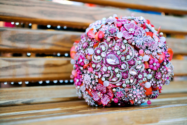 Walt Disney World Wedding - Brooch Bouquet