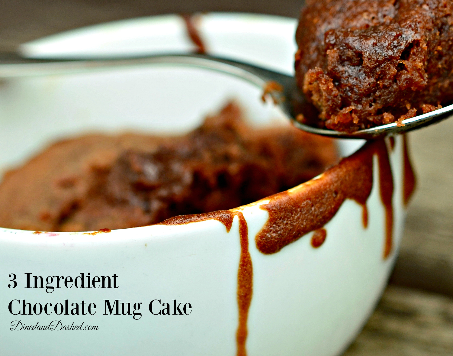 3 Ingredient Chocolate Mug Cake