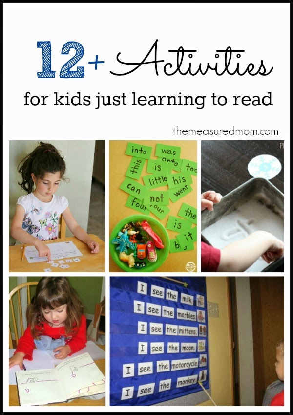Early Reading Recommendations, Activities & Printables