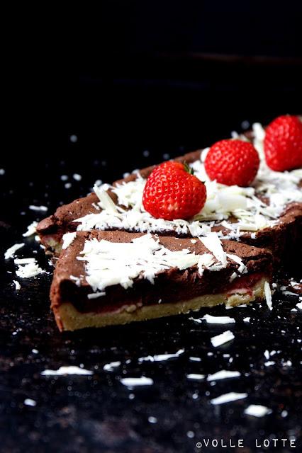 Backen, einfach, Sommer, Erdbeeren, Tarte, Schokolade, schnell