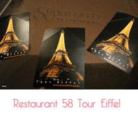 restaurant 58 de la Tour eiffel