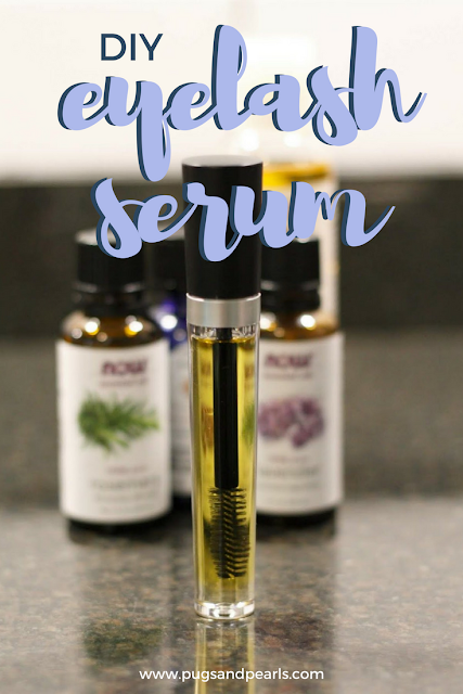 DIY Eyelash Serum Using Essential Oils // Pugs & Pearls Blog