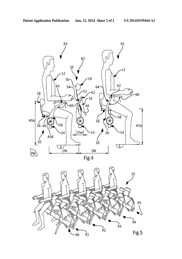 diagram of airplane seats