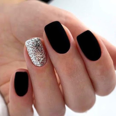 39 Glam Matte Nails Ideas With Black Nail Art Designs To Copy In