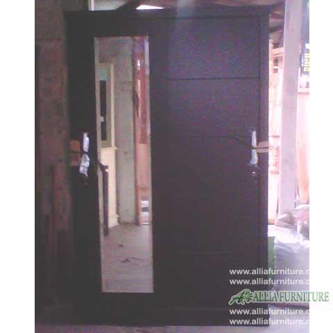 lemari jati minimalis 2 pintu geser domino