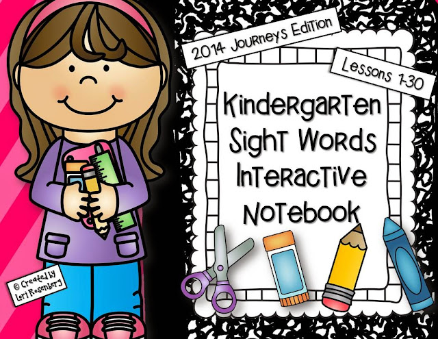 Kindergarten Sight Words Interactive Notebook Activities