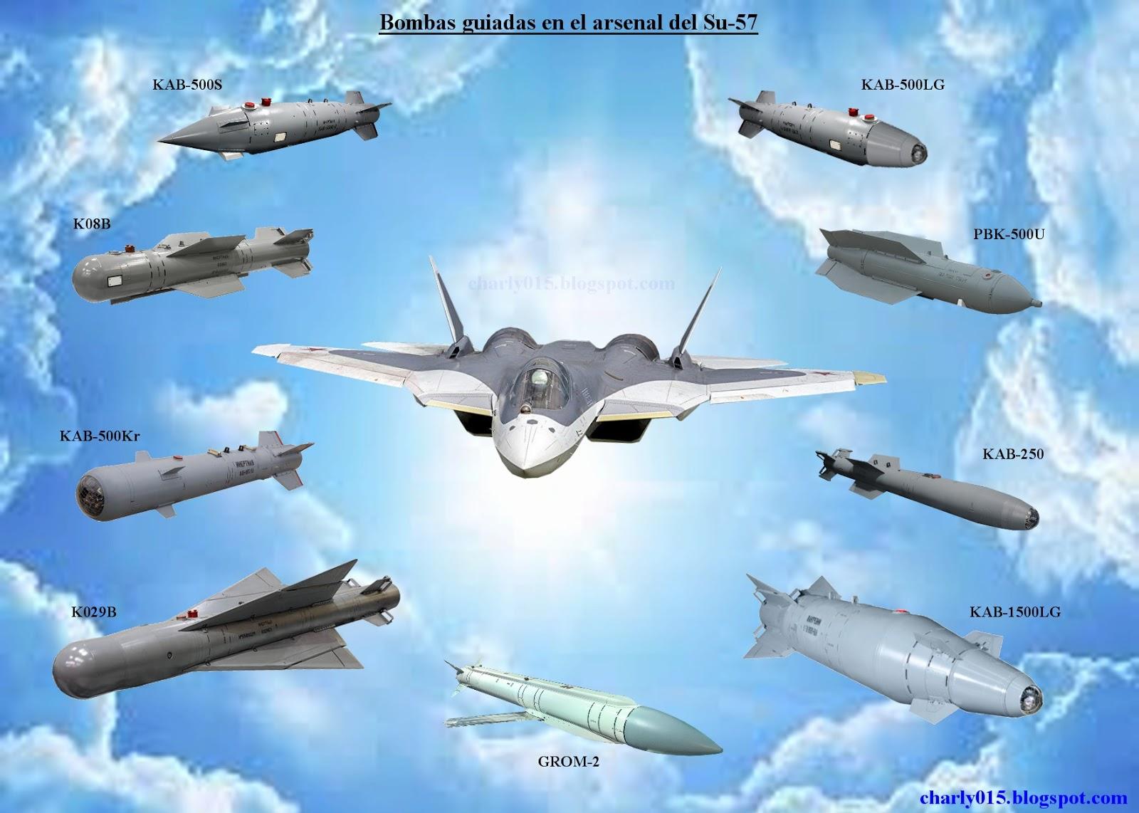 Su-57 Stealth Fighter: News #5 - Page 27 Su-57%2Barmamento%2Bbombas%2Bguiadas