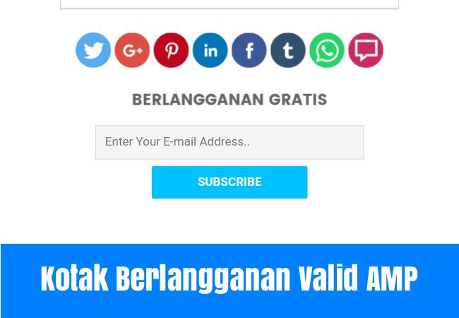 Cara Buat widget  Kotak Berlangganan (Subscribe Box) Dibawah Postingan Valid AMP Terbaru