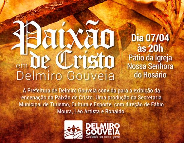 Prefeitura de Delmiro Gouveia  realizará encenação da Paixão de Cristo