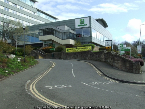 The Holiday Inn next to Edinburgh Zoo