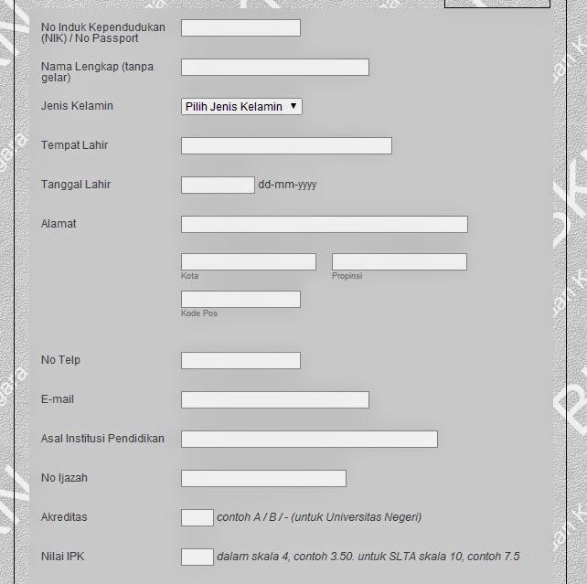 Contoh Formulir Tes Kesehatan Mosik Express