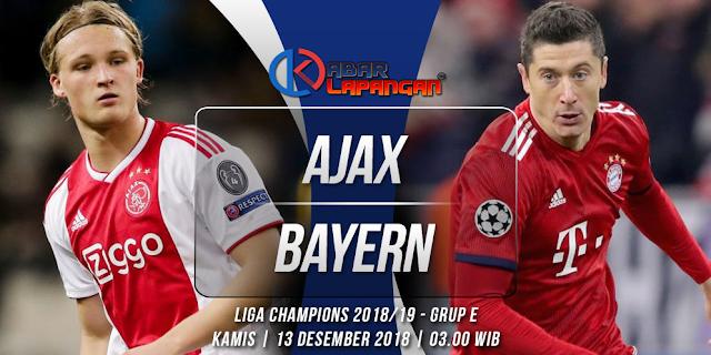 Prediksi Bola Ajax vs Bayern Munchen Liga Champions