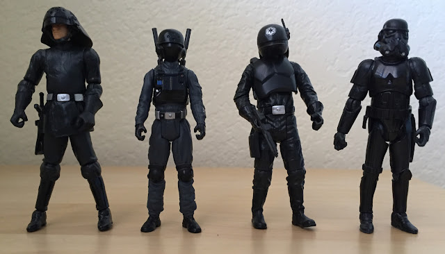2016 Rogue One Imperial Ground Crew, Blackhole Stormtrooper, Imperial Gunner, Imperial Naval Trooper