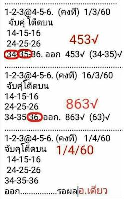 เลขเด่นบน  14  15  16 24  25  26 34  35  36