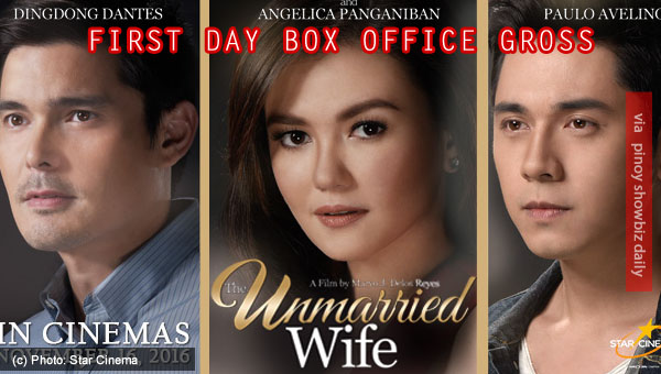 The Unmarried Wife earns P17 million on its first day at the box office