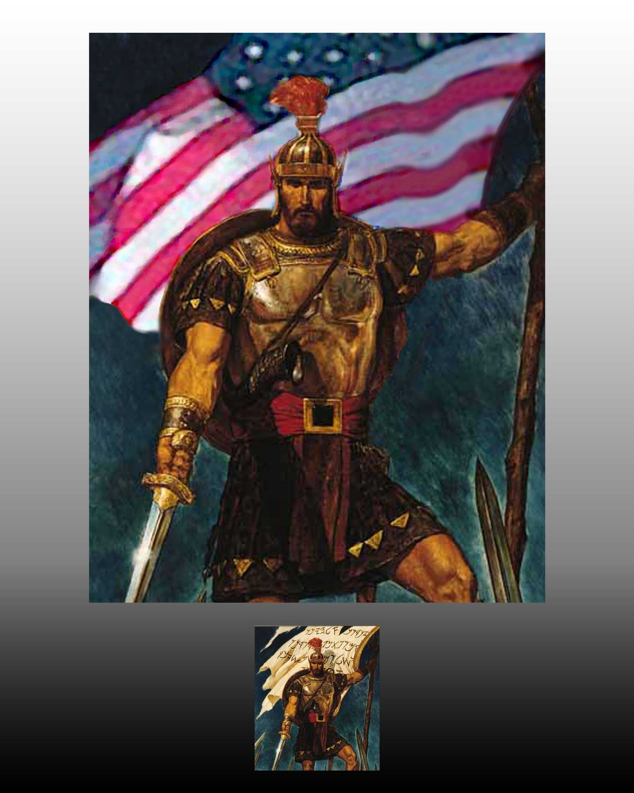 AstinMedia BeforeAfter Series  Captain Moroni and the Title of Liberty