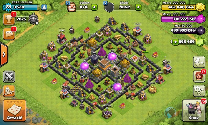 Susunan Formasi Base War TH 8 Update Terbaru 27