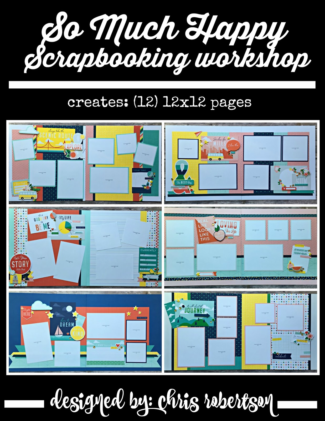 So Much Happy Scrapbooking Workshop