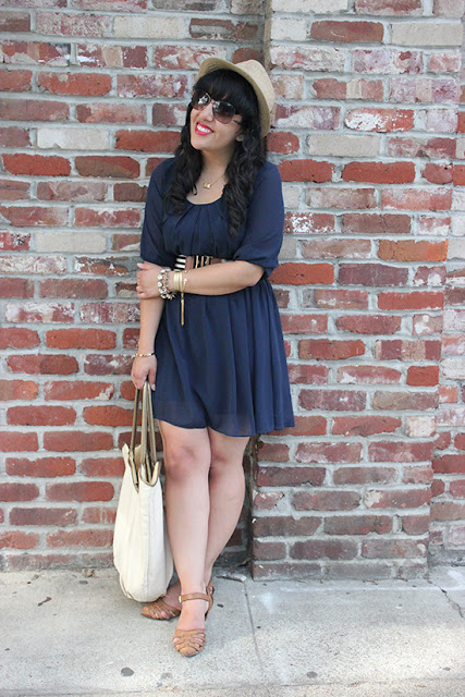 Byer CA Navy Blue Summer Dress Outfit