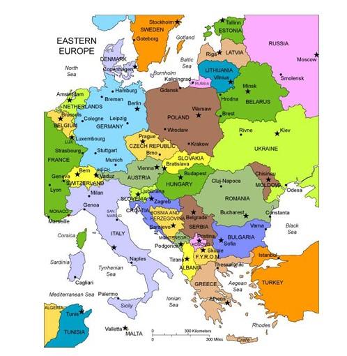 Heloohaloo 25 Nieuwe Kaart Van Oost Europa