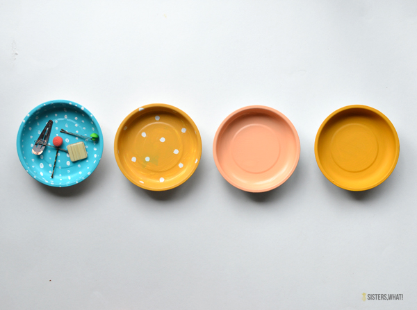 Paint a magnetic bowl and use for bobby pins and other cool things.